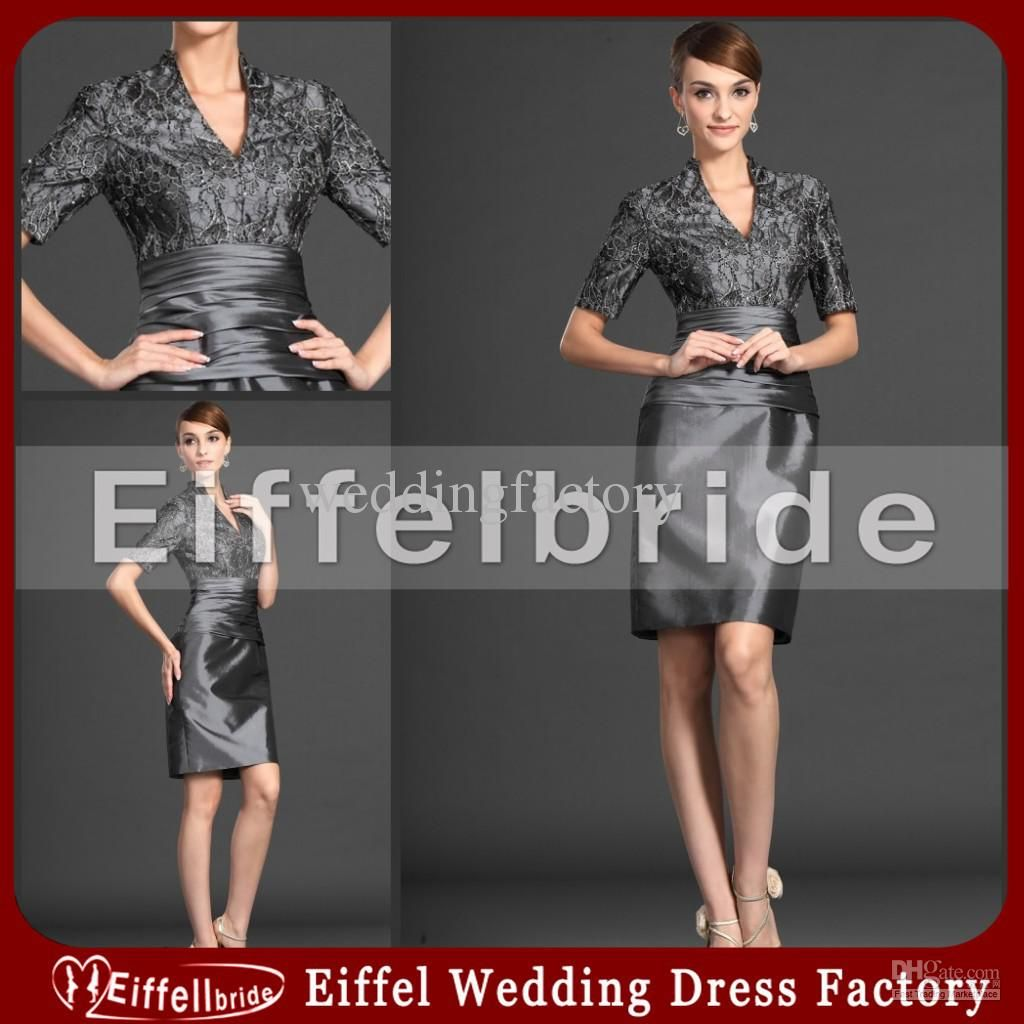 Wholesale Mother of the Bride Dresses - Buy Silver Lace Mother of the Bride Dresses Knee Length Formal Dress for Wedding, $99.48   DHgate   jade http://www.dhgate.com/product/silver-lace-mother-of-the-bride-dresses-knee/172929730.html#s8-2-1 743115464