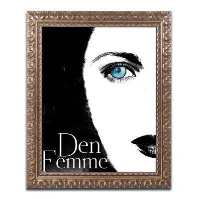 Trademark Art Femme Den II' Framed Graphic Art Size: