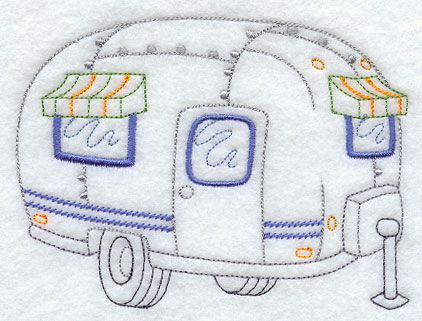 Home on the Road Camper-This would be so cute done in quilling ...