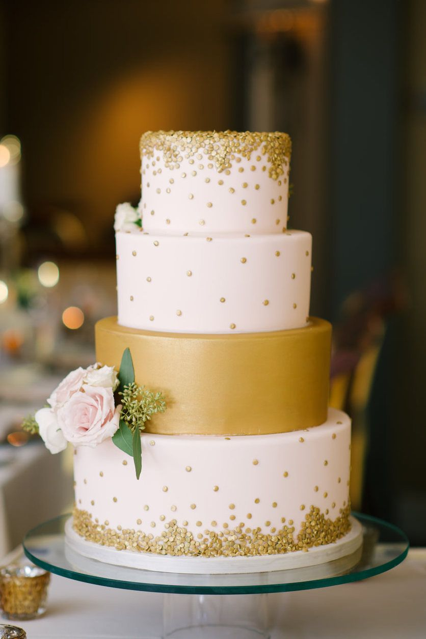 Champagne Gold Wedding Cakes