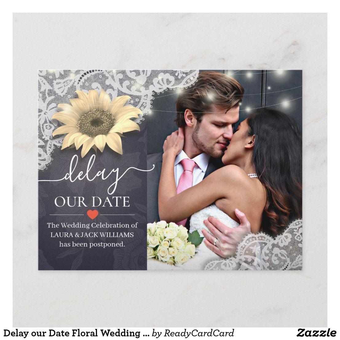 Delay our date floral wedding postponement photo