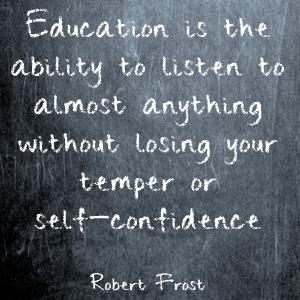 On education...