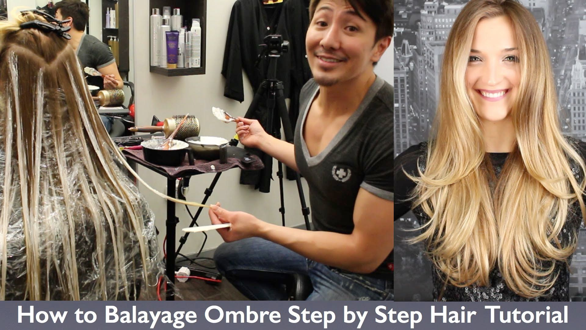 How To Balayage Ombre Step By Step Hair Tutorial Balayage Ombre