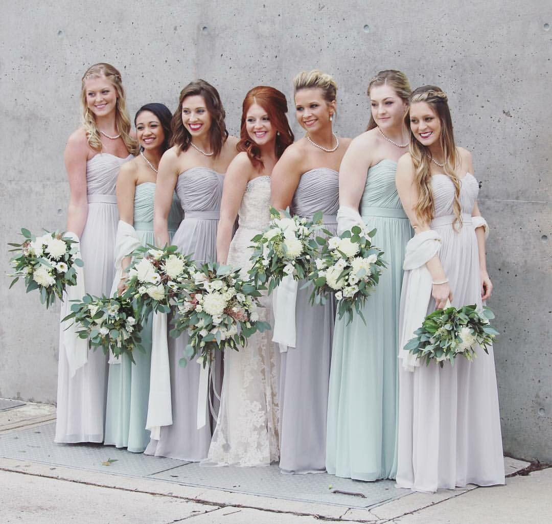 Celadon Blue Bridesmaid Dresses
