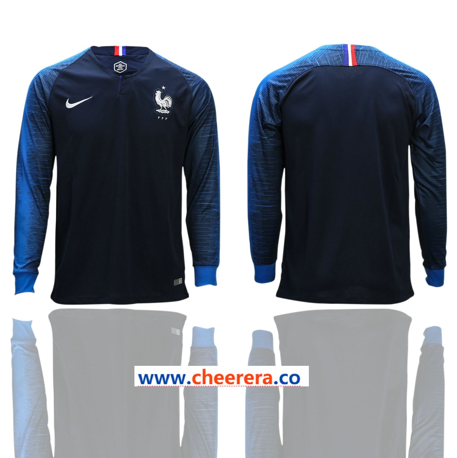 cc43b7863bc France Home 2018 FIFA World Cup Long Sleeve Thailand Soccer Jersey ...