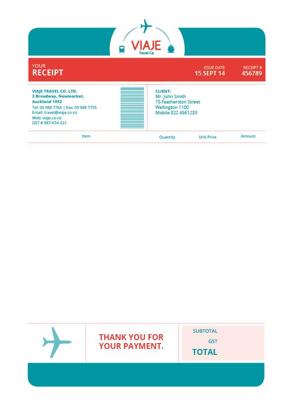 Viaje Travel Co Invoice By Andrea Aragon Invoice Design Invoice Template Inspiration