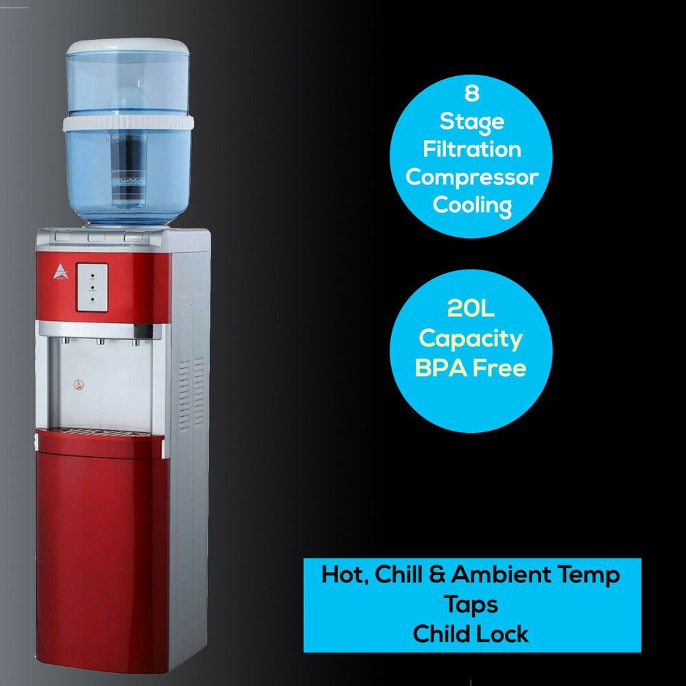Water Cooler Dispenser Hot Cold Household Filter Purifier Floor Standing Red Au Aimex Floorstanding Aimexawesomewaterfilte Water Coolers Household Purifier