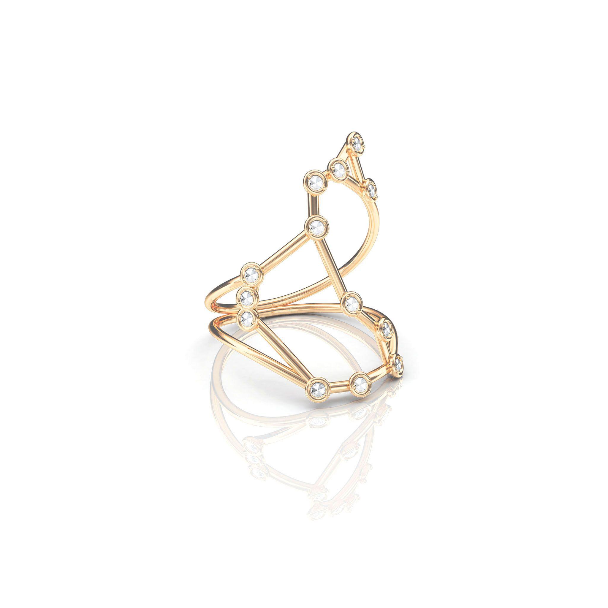 Jessie V E White Gold Libra Ring cug3IiZ6EM