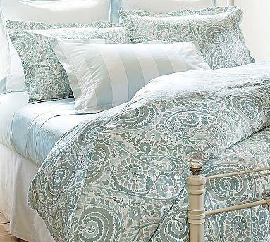 Bedding Painterly Paisley 400 Thread Count Duvet Cover Sham