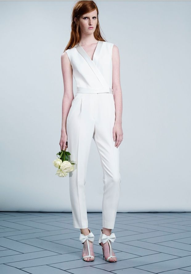 73690879a14 White Womens Jumpsuit