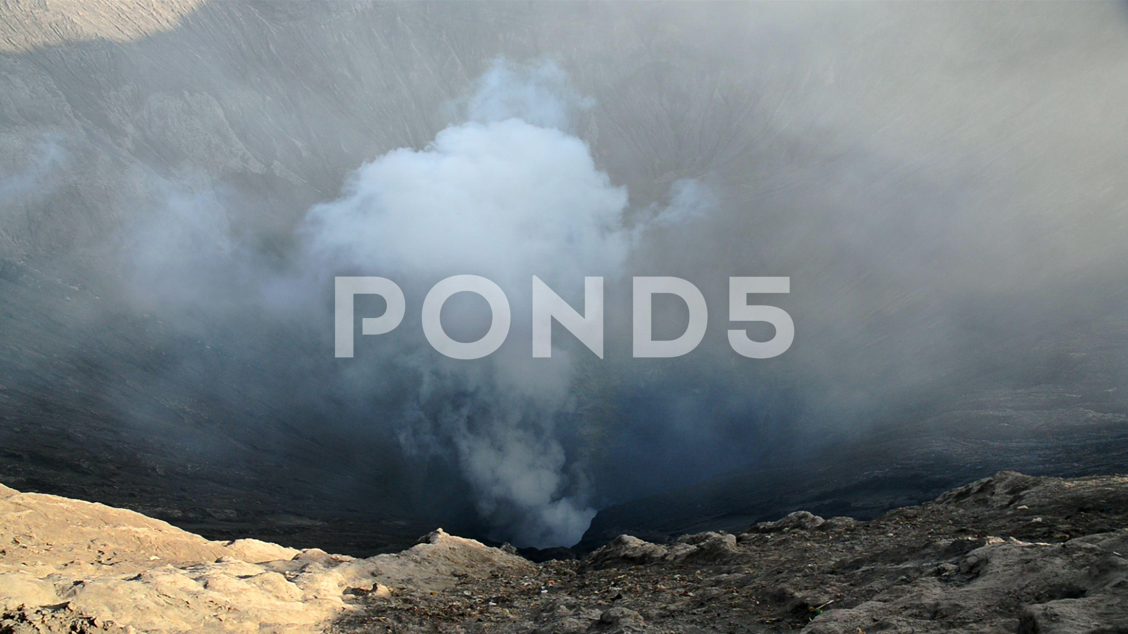 Smoke from Mount Bromo Volcano (Breath of God), Surabaya