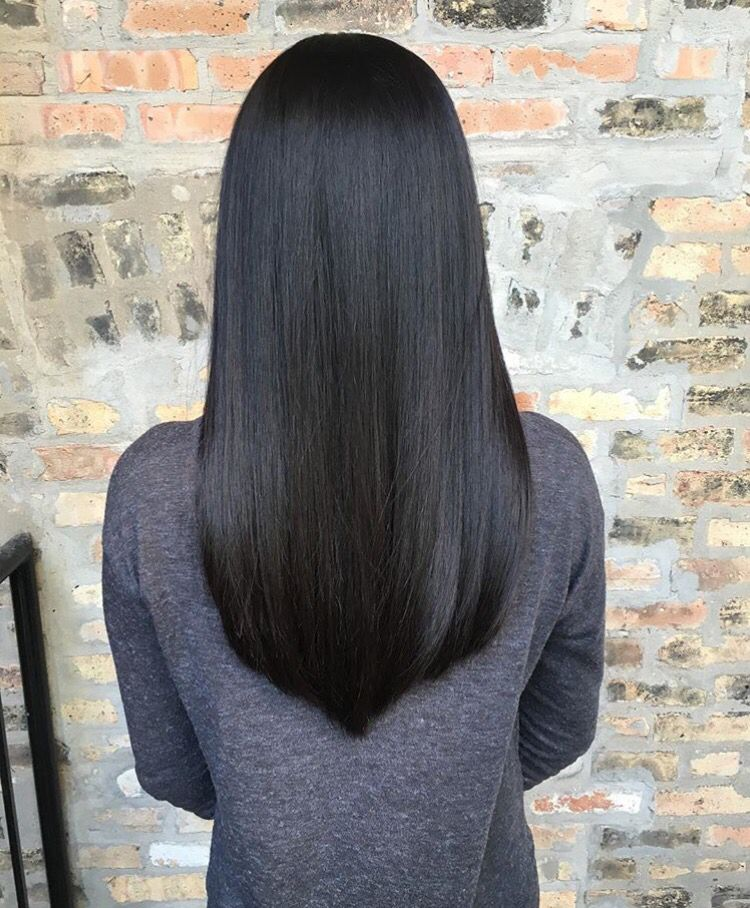 Mid Length Straight Hair Hairstyle In 2019 Hair Styles Long