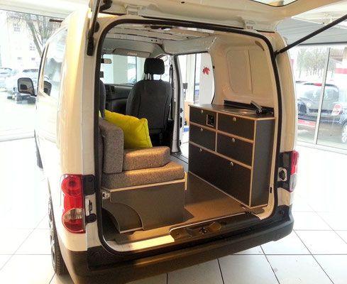 nissan nv200 carcamp verkauf reise outdoorzubeh r. Black Bedroom Furniture Sets. Home Design Ideas