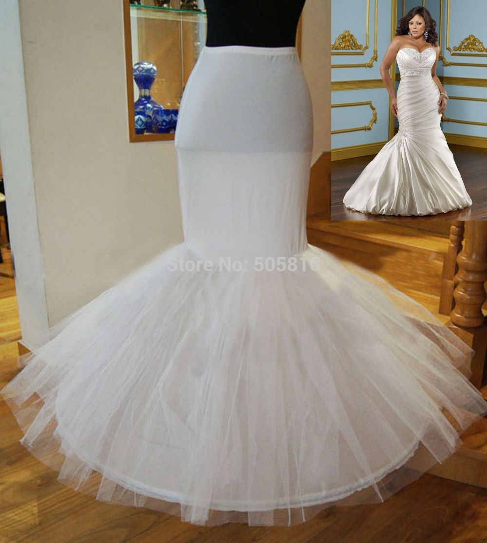 Popular Plus Size Lycra Waist Mermaid Trumpet Style Wedding Gown Crinoline Petticoat Underskirt Slip