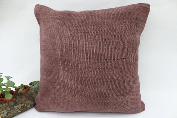 18x18 Bohemian Kilim Pillow,Ottoman Pillow,Hemp Pillow,Pillow Cover,Throw Pillows,Bedding Pillow,Pin