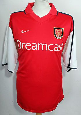 957cc8fbafb Vintage  arsenal home football  shirt nike  00-02 mens xl dreamcast rare