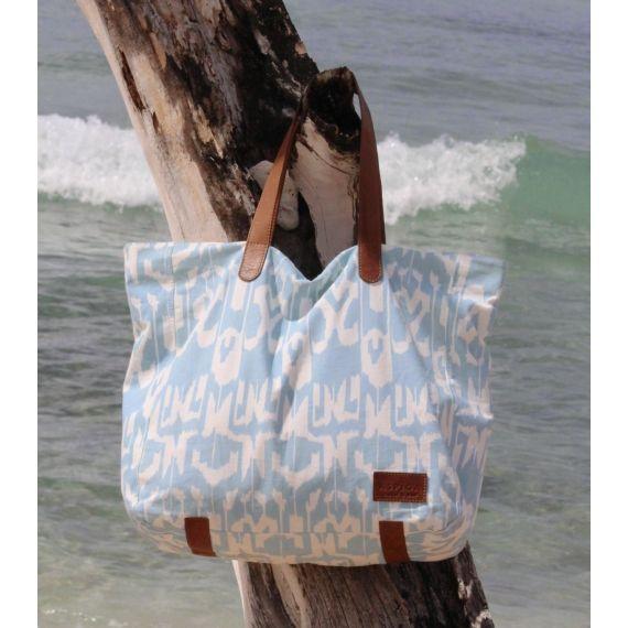 $70 Ikat Shopper Bag Turquoise