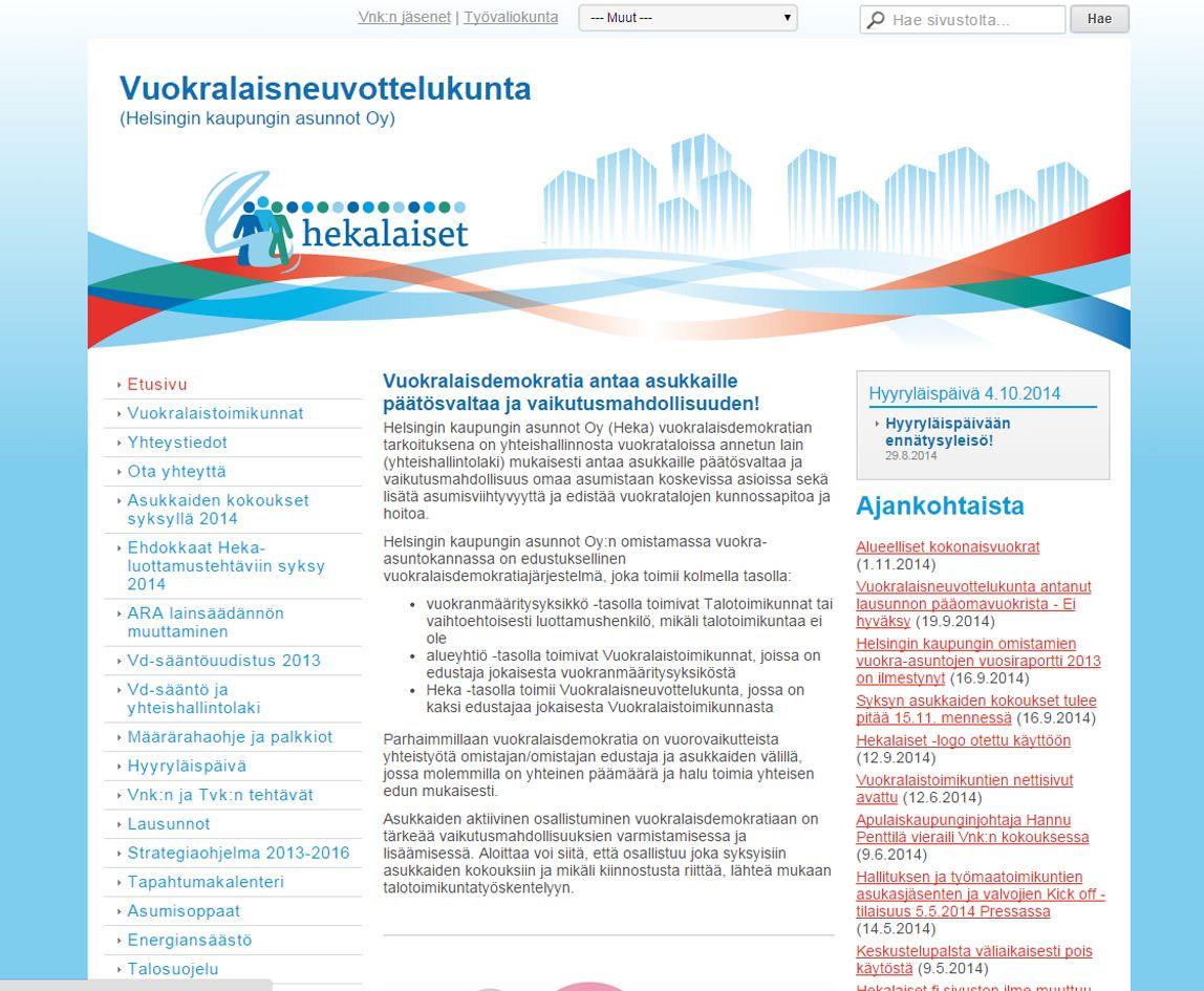 Projektina: Kotisivujen ulkoasunsuunnittelu ja - toteutus.