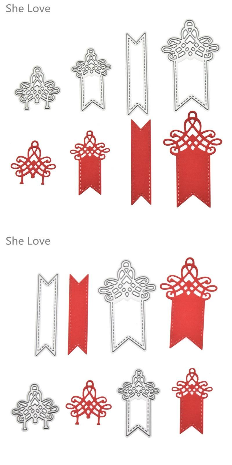 Visit to Buy] She Love 4pcs Label Hangtag Template Metal Cutting ...