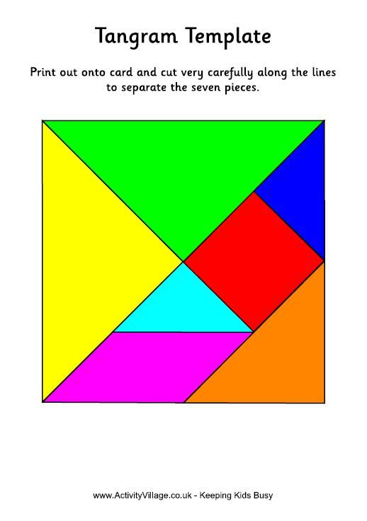 Tangram Puzzles To Print - \'seven Pieces of Cleverness\' | spelen ...