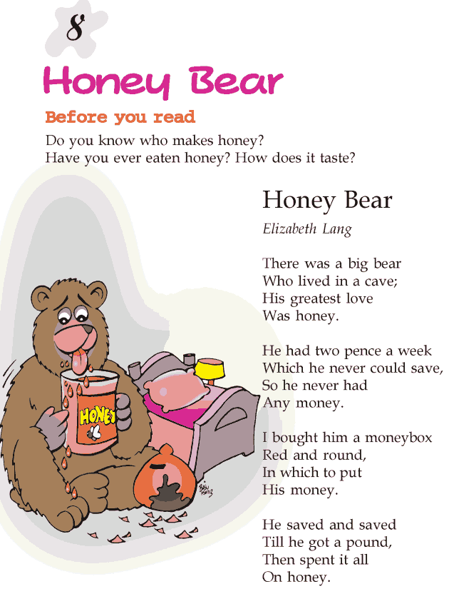 Grade 2 Reading Lesson 8 Poetry – Honey Bear | teachers