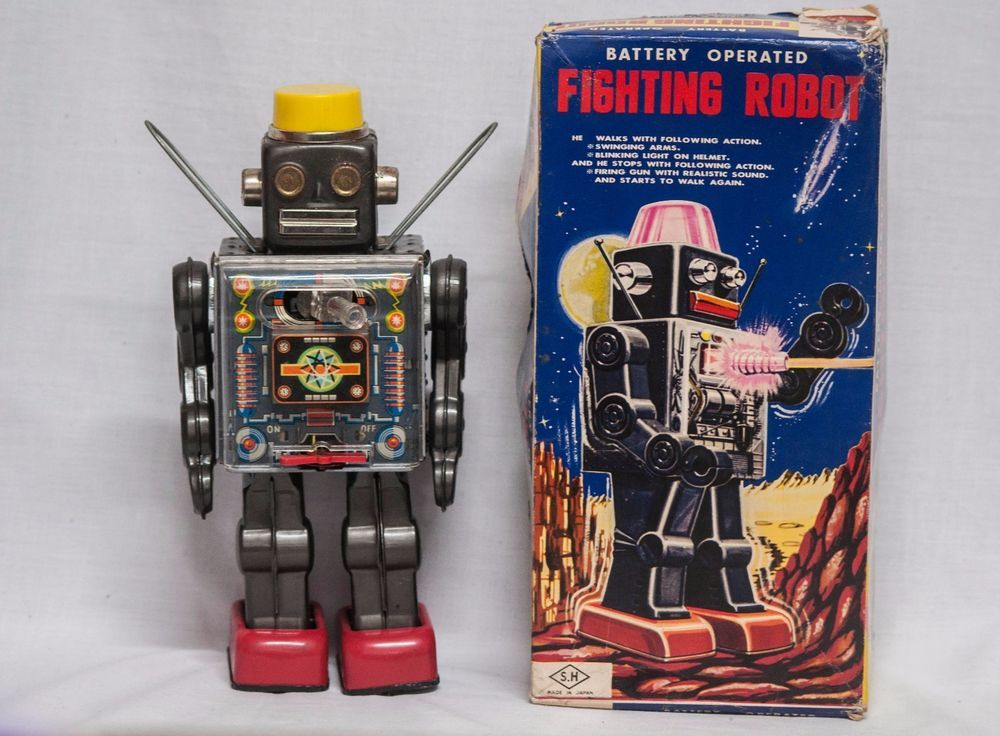 FIGHTING SPACE TIN BATTERY ROBOT RARE AND SCARCE HORIKAWA ...