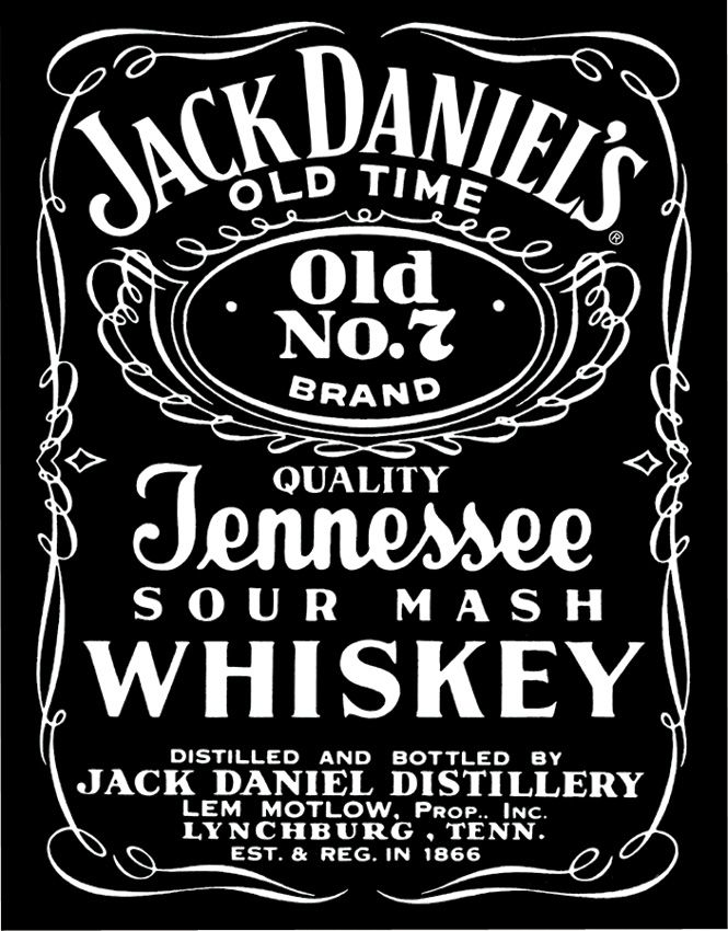 Jack Daniels Tennessee Whiskey Old black and white logo drink  Fashion Logos  Jack