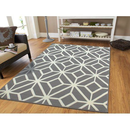 Large Gray Moroccan Trellis 8x11 Area Rugs For Living Room Grey