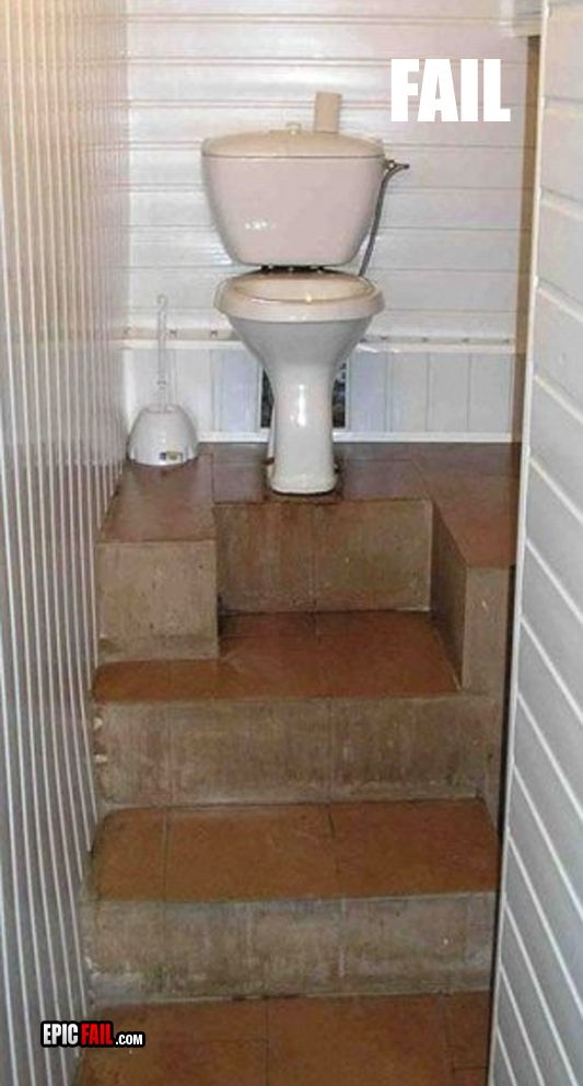Home Design Fails Part - 15: Toilet Up Stairs Fail - Home U0026 Garden Do It Yourself - Home U0026 Garden Do