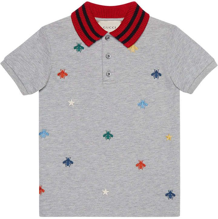 fd9c32accb7 Gucci Kids Children s Polo With Bees And Stars Embroidery