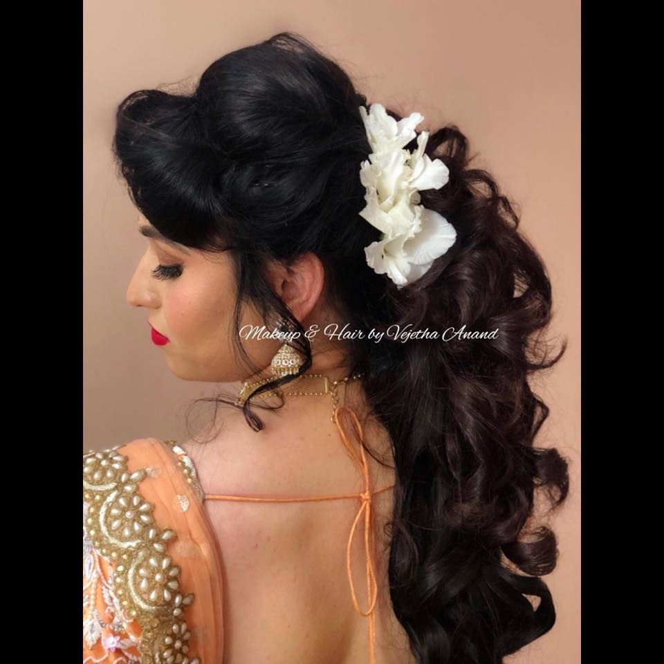 Romantic Bridal Hairstyle By Vejetha For Swank Bridal Updo Bridal