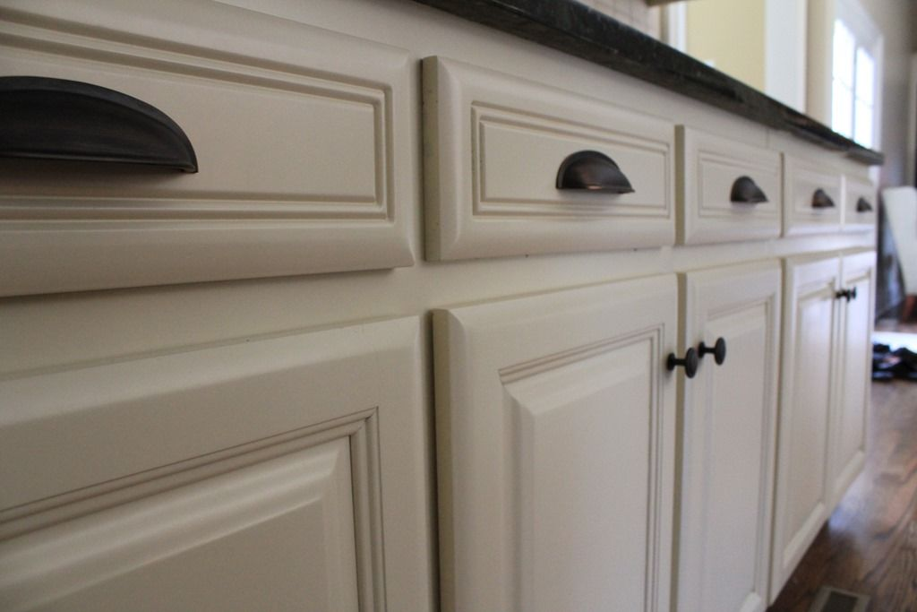 Dark handles helpful pinterest cabinet hardware for White kitchen cabinets black hardware