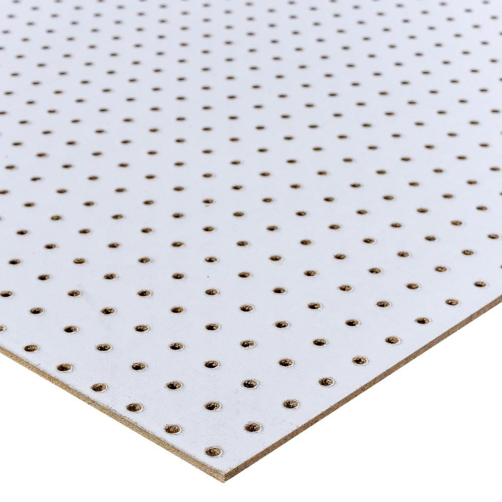 48 In H X 24 In W White Pegboard 109099 White Pegboard Diy On