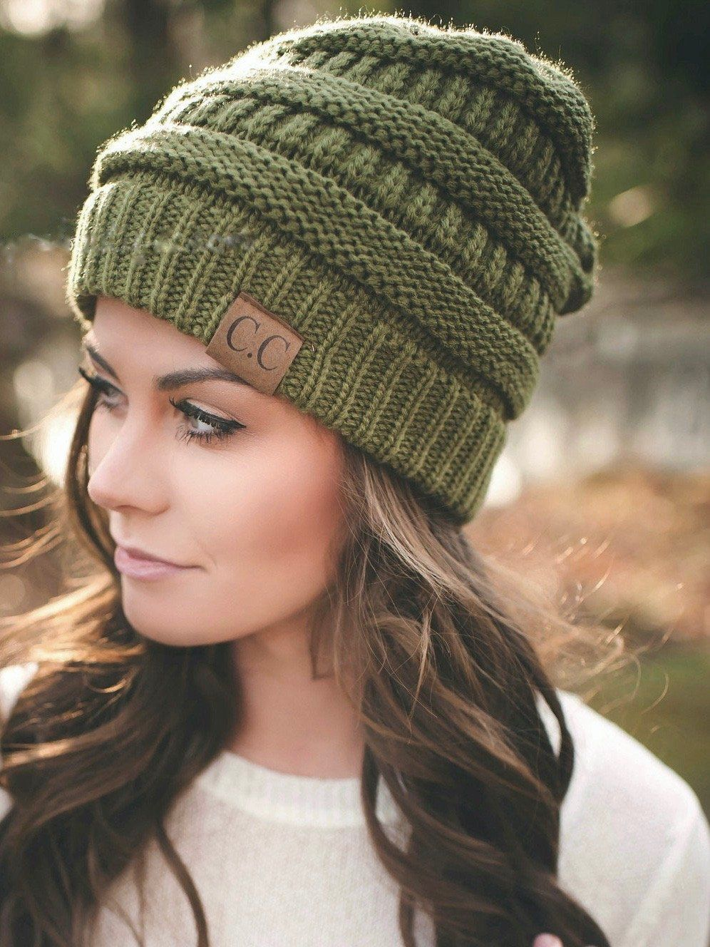 This knit beanie will be perfect to keep you warm during chilly winter days! 5ce87594fb2b