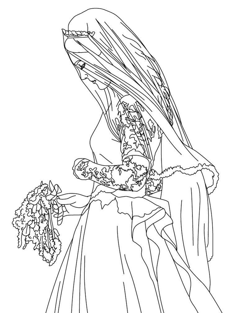 Imagenes para Colorear de Princesas para Imprimir: La Boda ...