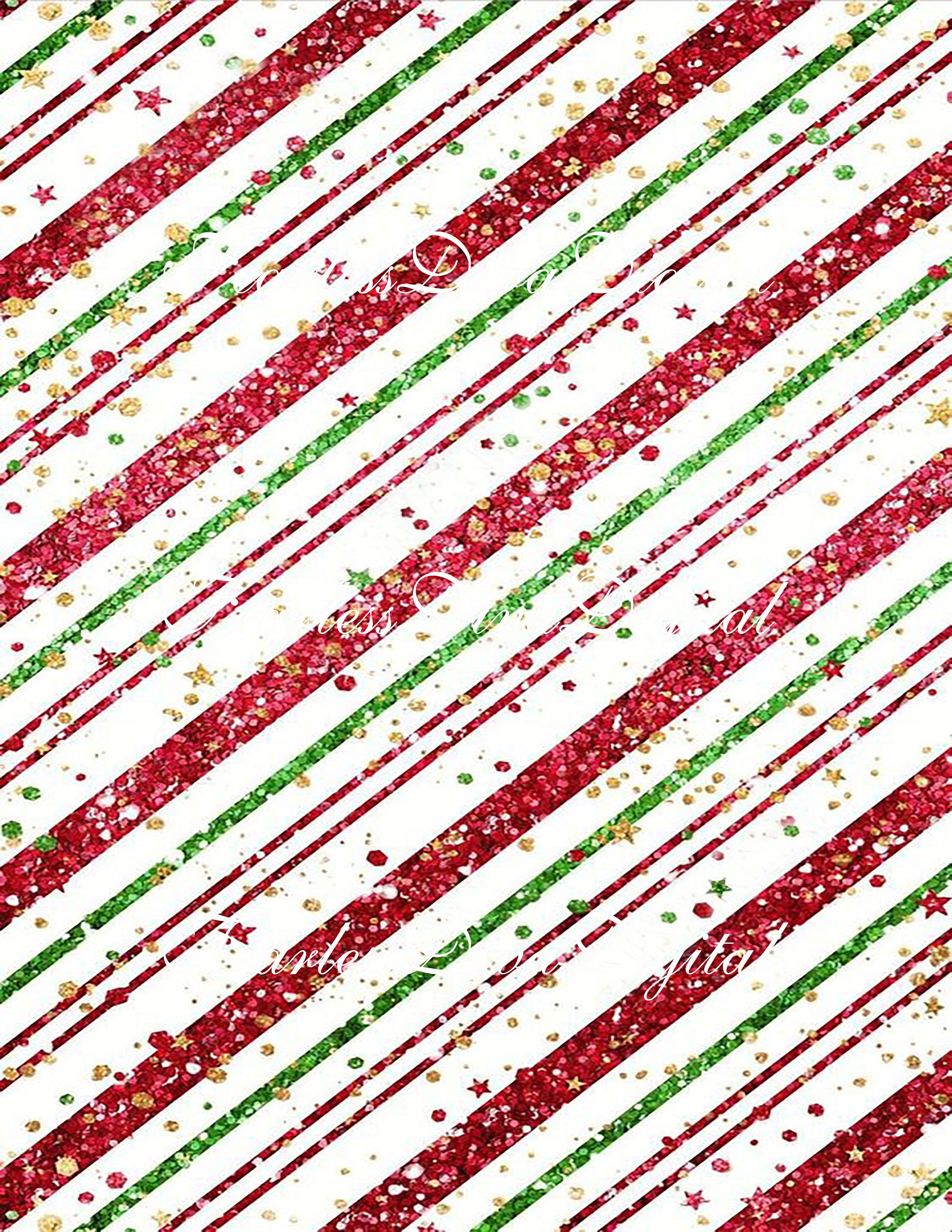 Digital Glittery Striped Christmas Scrapbook Paper Instant Etsy Wallpaper Iphone Christmas Christmas Phone Wallpaper Holiday Iphone Wallpaper