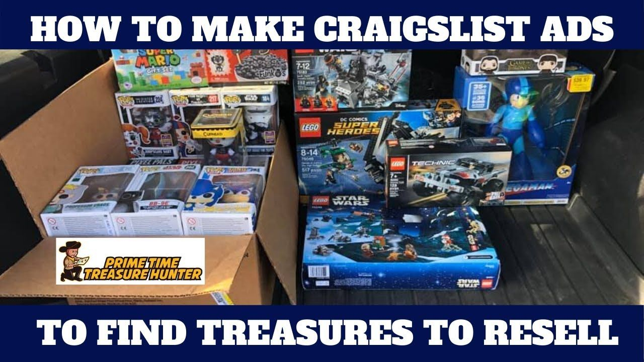 How To Make Craigslist Ads To Find Treasures Make Deals And Resell With Images Ebay Hacks Resell Treasures