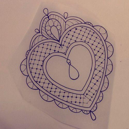 #drawings #lace #tattoos #mandala #heart #lacetattoos # ...