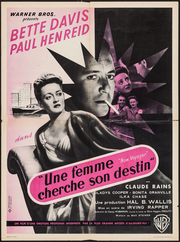 Now voyager Bette Davis 1942 cult movie poster print