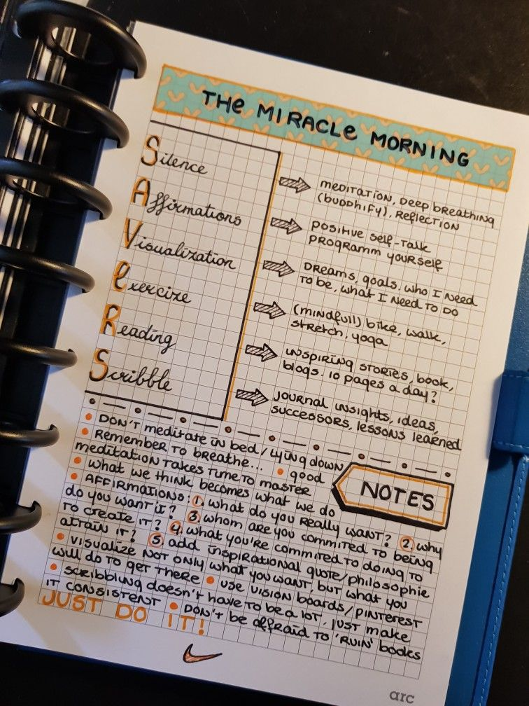 Bujo Miracle Morning With Images Miracle Morning Routine