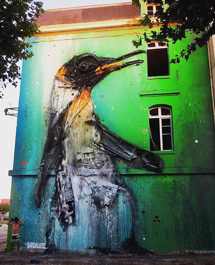 Bordalo II -  melting penguin for Ocean Climax Festival...