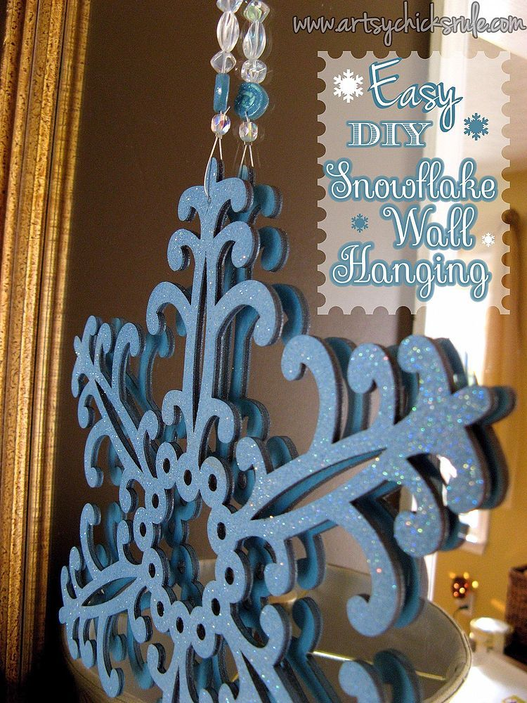 Easy, DIY Snowflake Wall Hanging Easy christmas diy