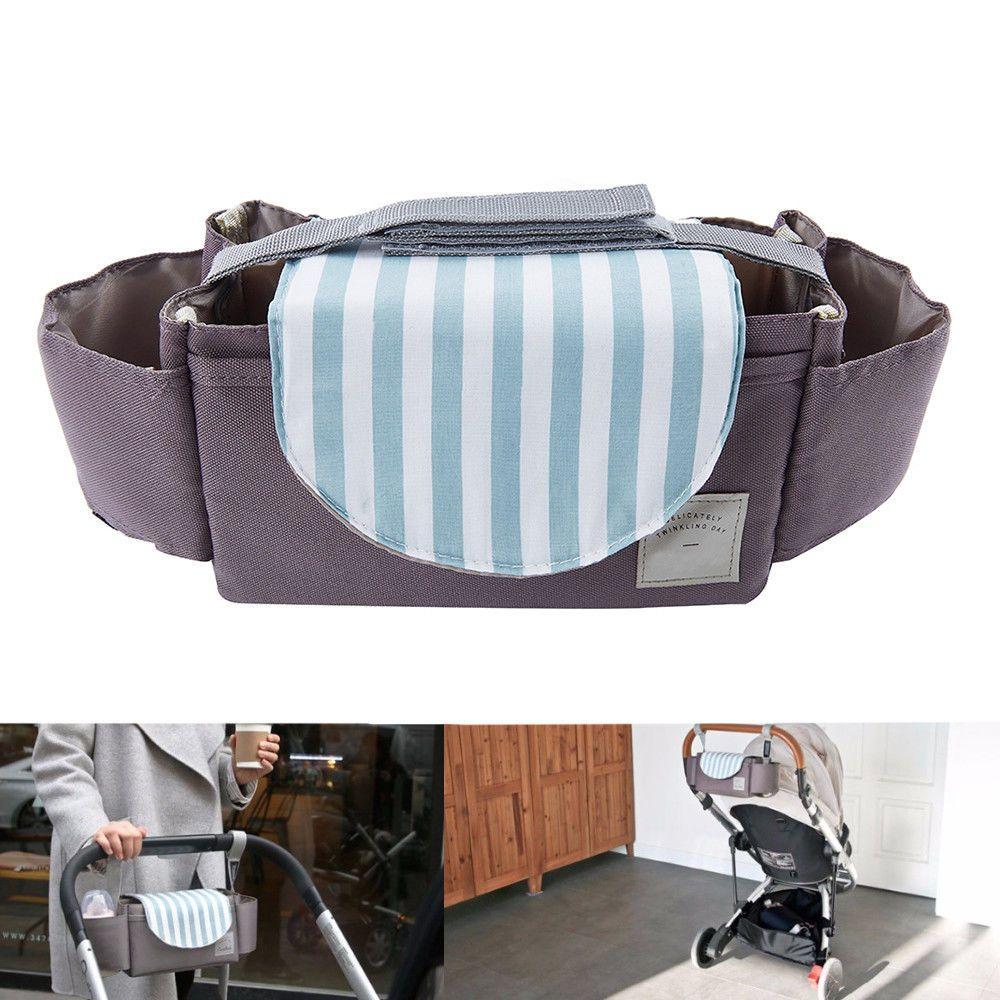Stroller Bag Organiser Baby Pram Buggy Pushchair Stroller Storage Cup Holder Bag