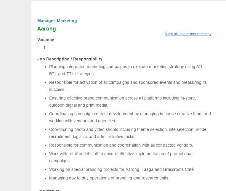 Aarong Manager  Marketing Job Circular January   Vacancy  Job