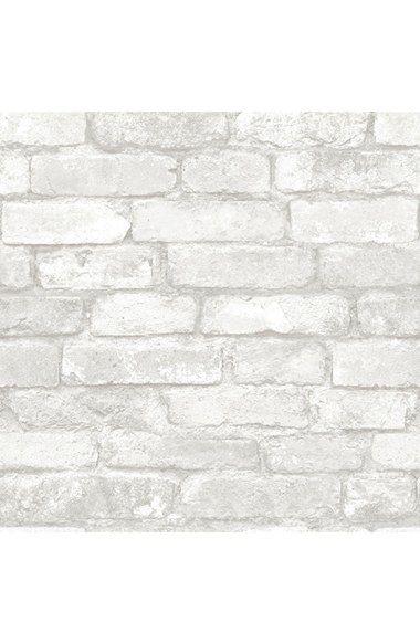 Wallpops Grey Amp White Brick Reusable Peel Amp Stick Vinyl