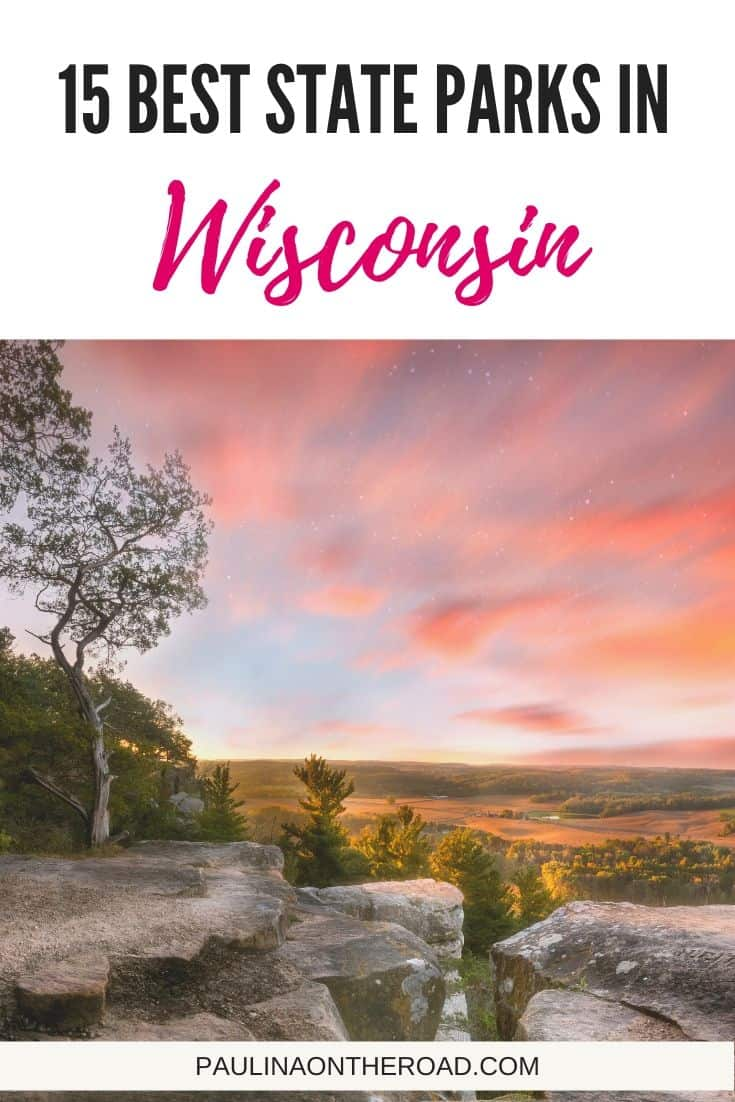 What are the best State Parks in Wisconsin? Get a selection of must-see Wisconsin State Parks including Wisconsin State Park map, hiking and campsites. Let's explore! #wisconsin #dairystate #wisconsintravel #usatravel #statepark #stateparks #stateparkswisconsin #hiking #stateparkhiking #wisconsinhiking