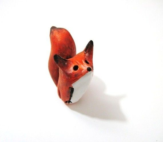 Miniature Red Fox Figurine