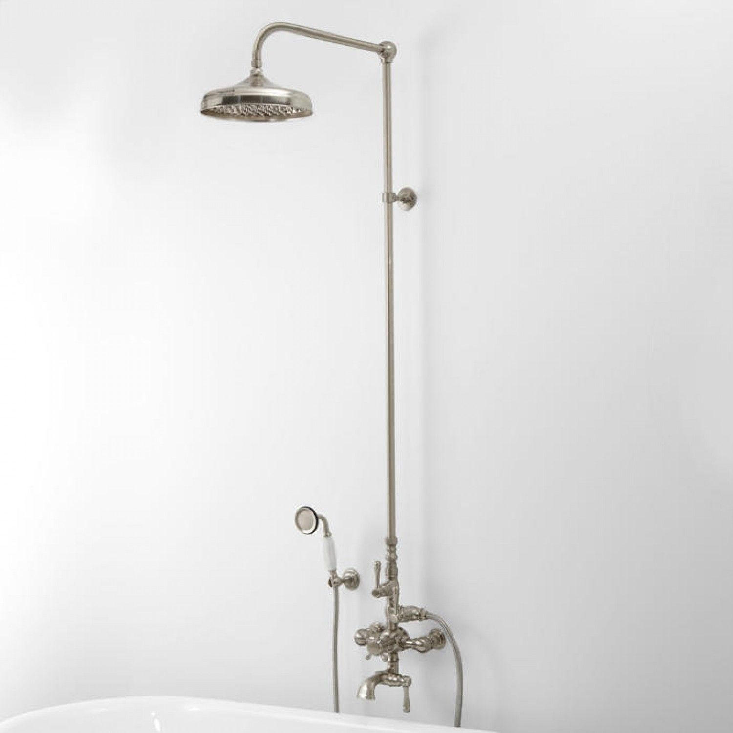 Thermostatic Exposed Pipe Tub and Shower Set with Hand Shower ...