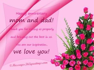 Anniversary messages for parents anniversary message