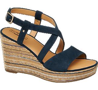 Sandály na platformě značky 5th Avenue v barvě modrá - deichmann.com ... 77836ca07e8